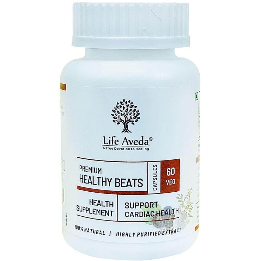 Life Aveda Premium Healthy Beats (500Mg) Veg Capsules (60caps)