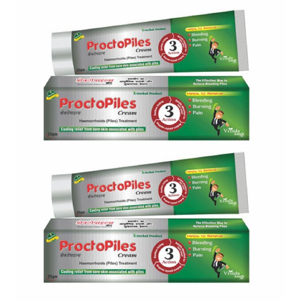 Vrinda Ayurvedic Proctopiles Cream (25g, Pack of 2)