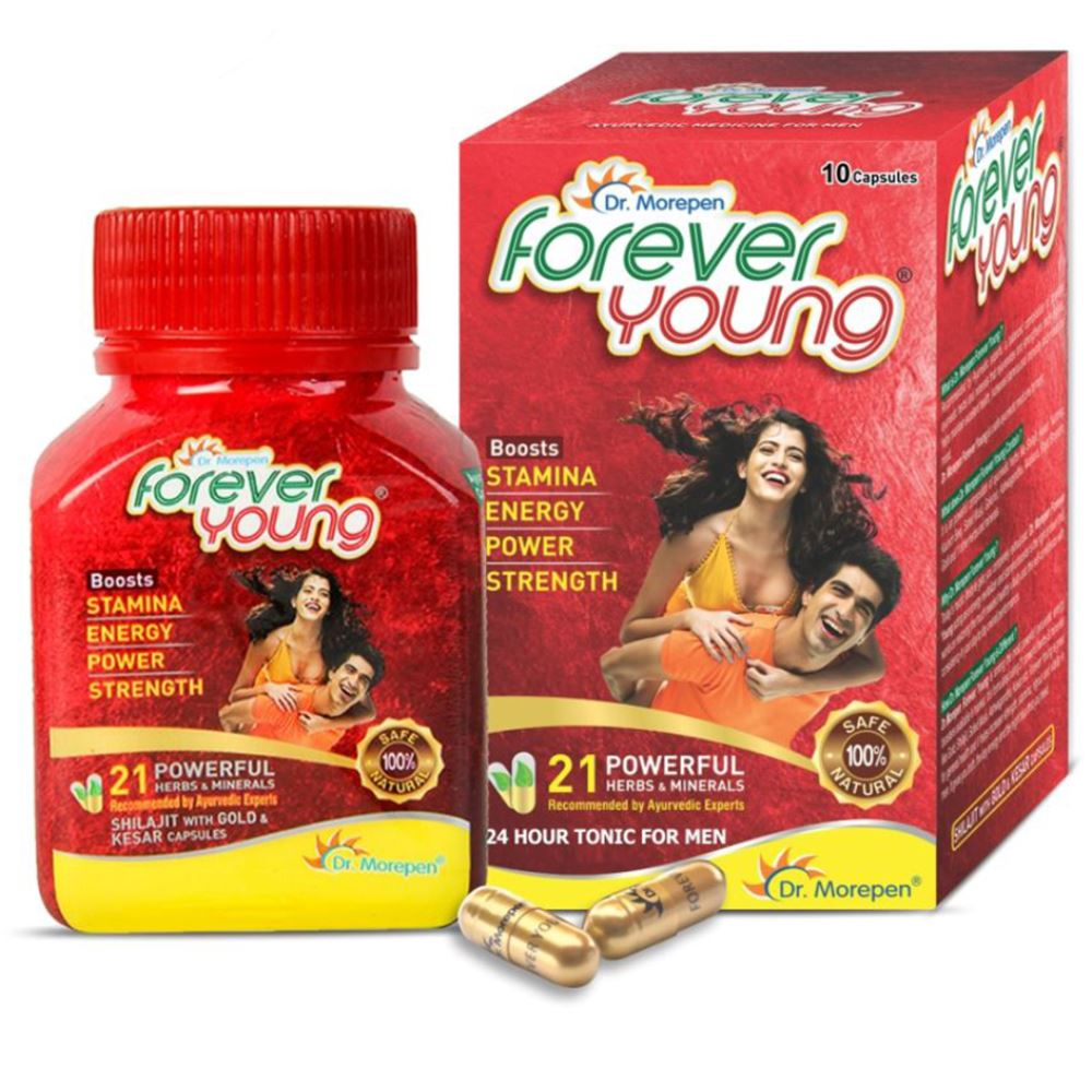 Dr. Morepen Forever Young Ayurvedic Energy Revitalizer Capsules (10caps)