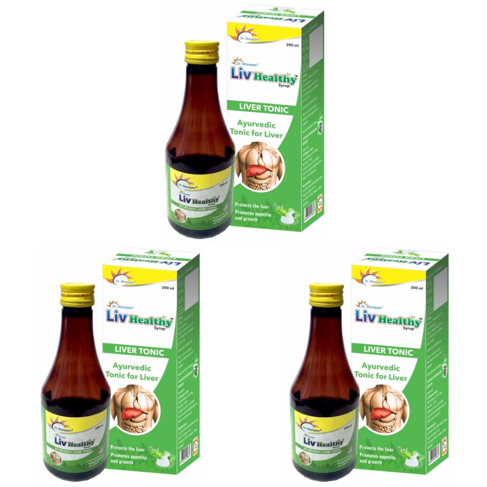 Dr. Morepen Liv Healthy Ayurvedic Liver Tonic (200ml, Pack of 3)