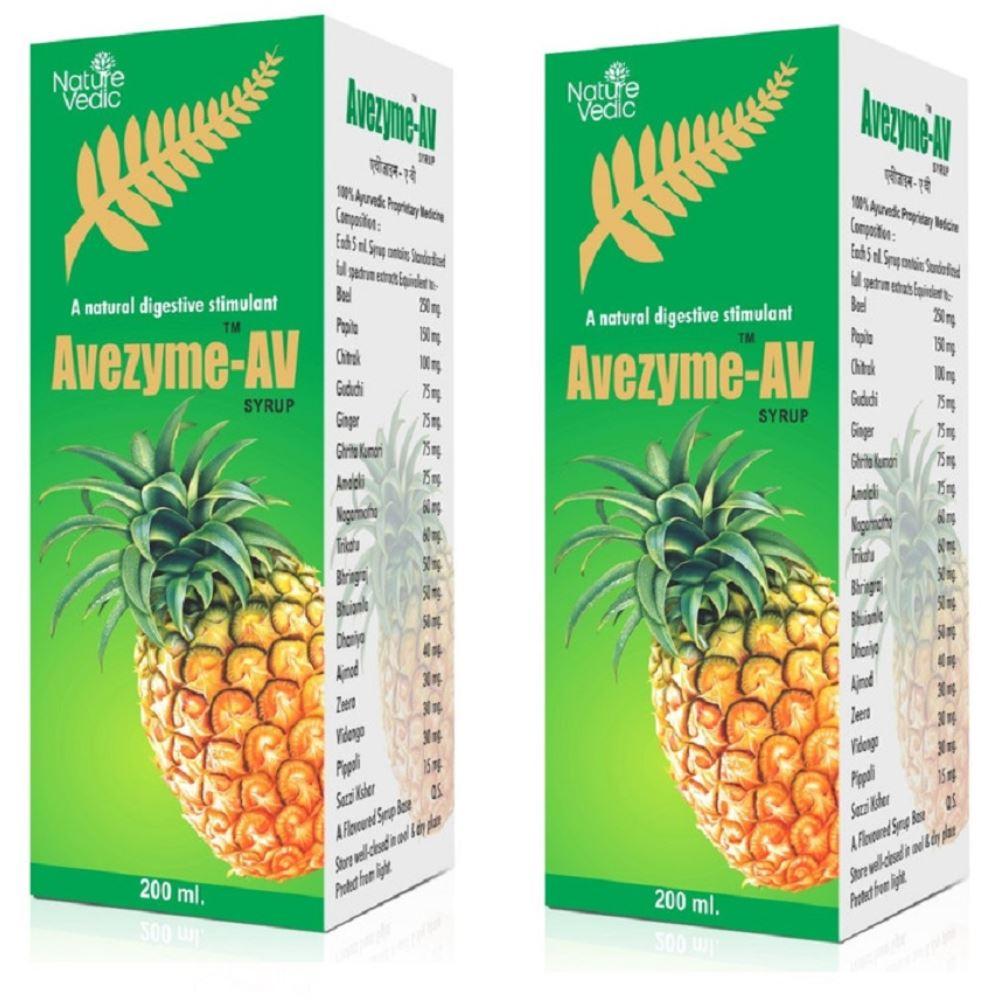 Nature Vedic Avezyme AV Syrup (200ml, Pack of 2)