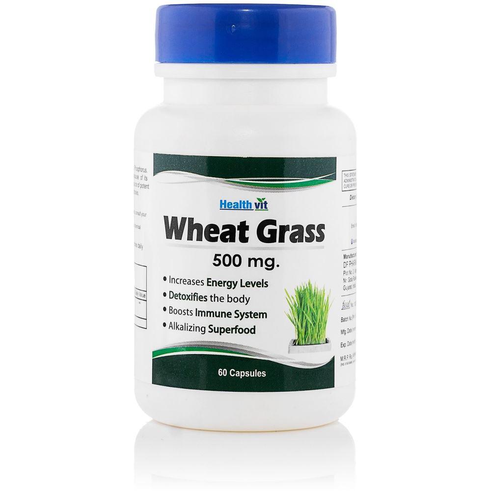 Healthvit 100% Pure Wheat Grass 500Mg (60caps)