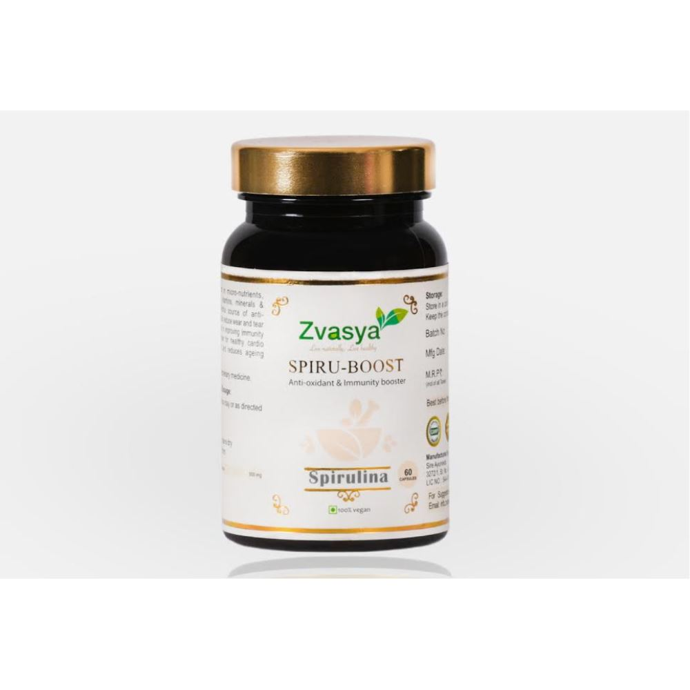 Zvasya Spiru-Boost Spirulina Capsules  (60caps)