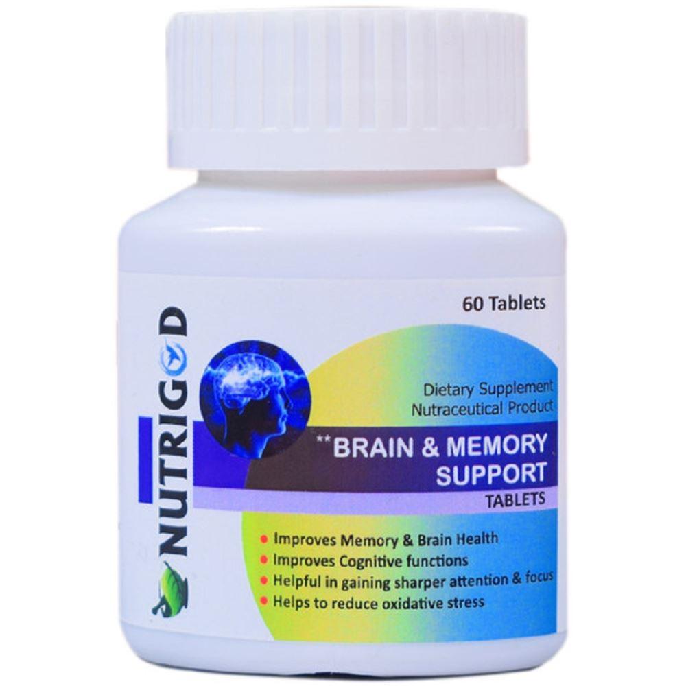 Nutrigod Brain & Memory Support Tablets (60tab)