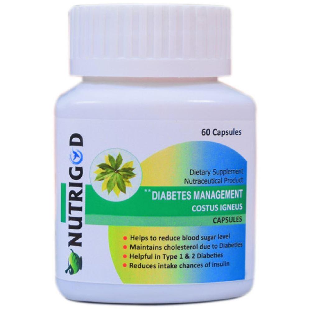 Nutrigod Diabetes Management Costus Igneus Capsules (60caps)