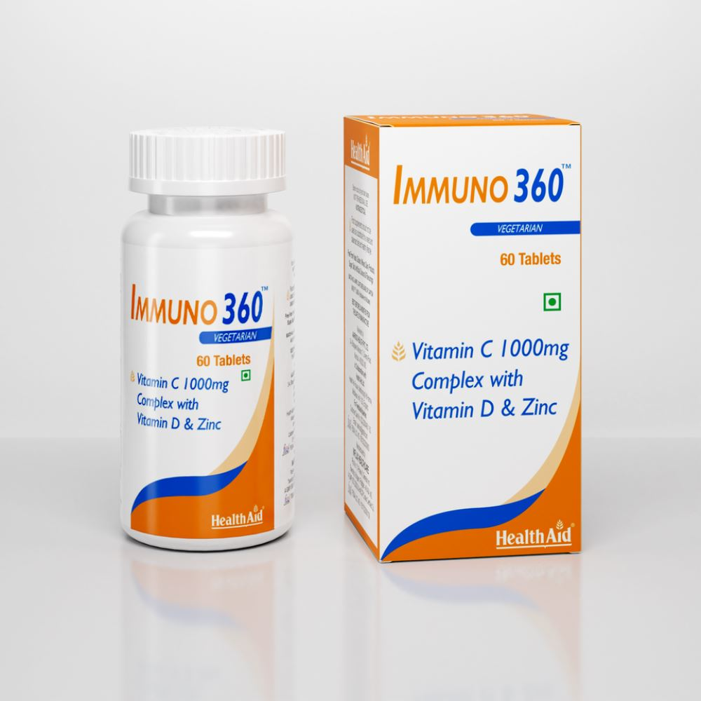 HealthAid Immuno 360™ (Vitamin C 1000Mg Complex With Vitamin D & Zinc) Tablets (60tab)
