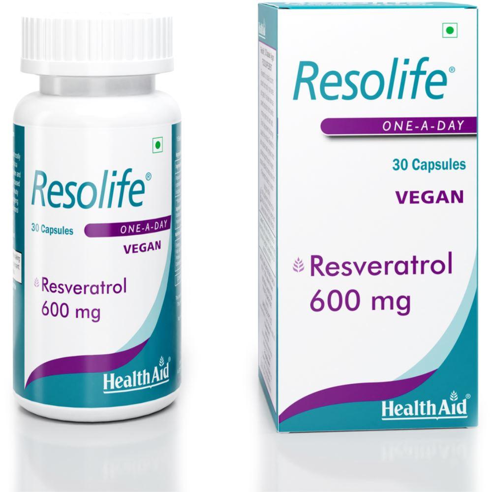 HealthAid Resolife (Resveratrol 600Mg) Capsules (30caps)