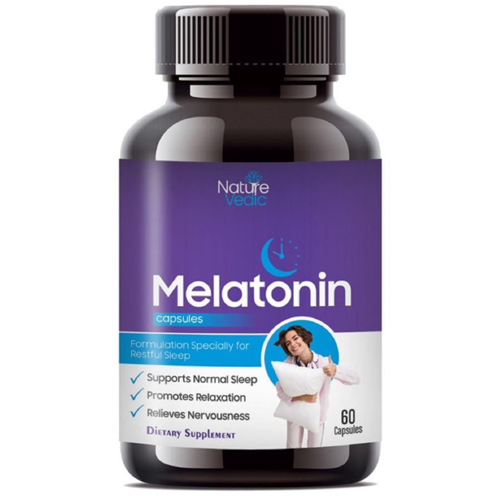 Nature Vedic Easonin Melatonin Healthy Sleeping Capsules (60caps)