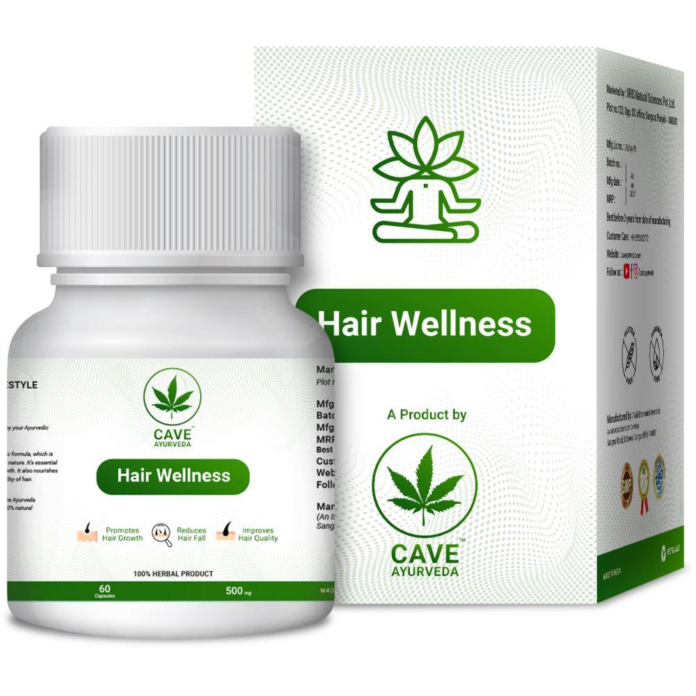 Cave Ayurveda Hair Wellness 500Mg (60caps)