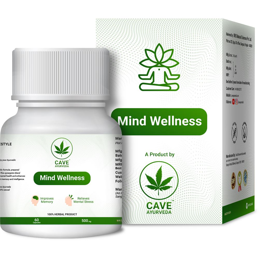 Cave Ayurveda Mind Wellness 500Mg (60caps)