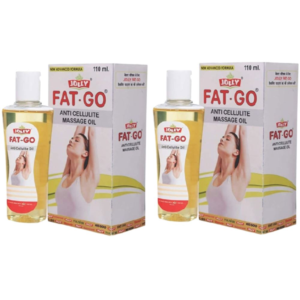 Jolly Fat Go Anti Cellulite Massage Oil (110ml, Pack of 2)