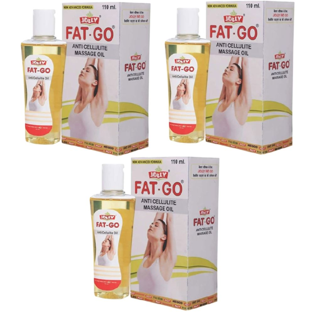 Jolly Fat Go Anti Cellulite Massage Oil (110ml, Pack of 3)