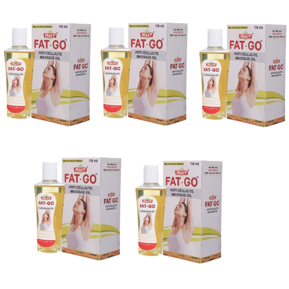 Jolly Fat Go Anti Cellulite Massage Oil (110ml, Pack of 5)