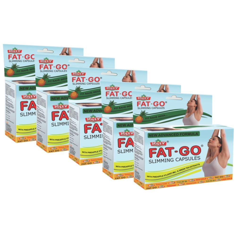 Jolly Fat Go Slimming Capsules (60caps, Pack of 5)