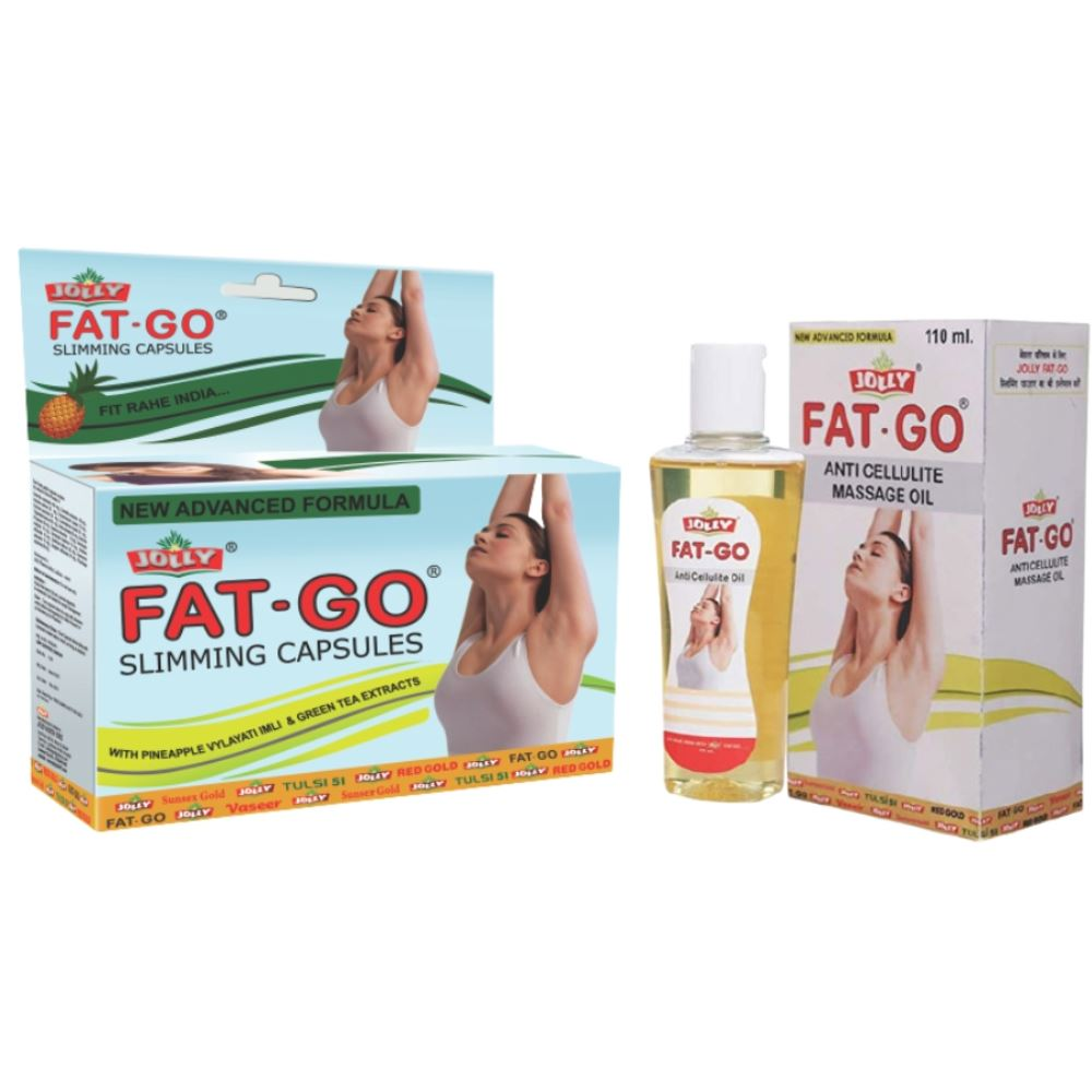 Jolly Fat Go Slimming Capsules and Oil (1Pack)