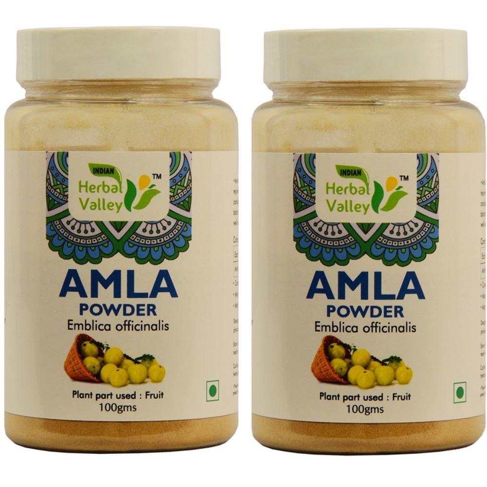 Indian Herbal Valley Amla Powder (100g, Pack of 2)