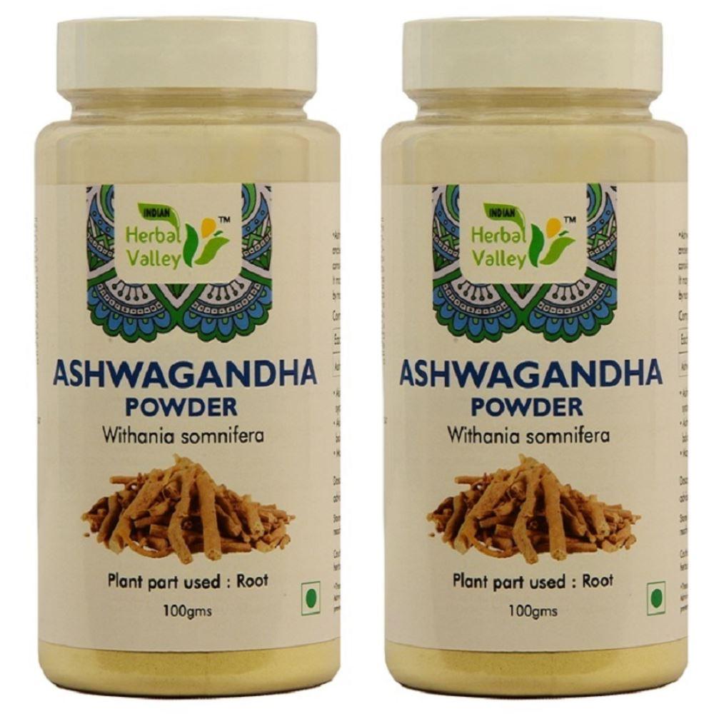 Indian Herbal Valley Ashwagandha Powder (100g, Pack of 2)