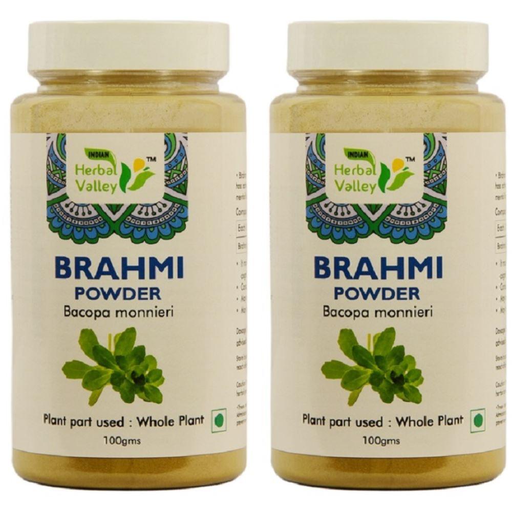 Indian Herbal Valley Brahmi Powder (100g, Pack of 2)