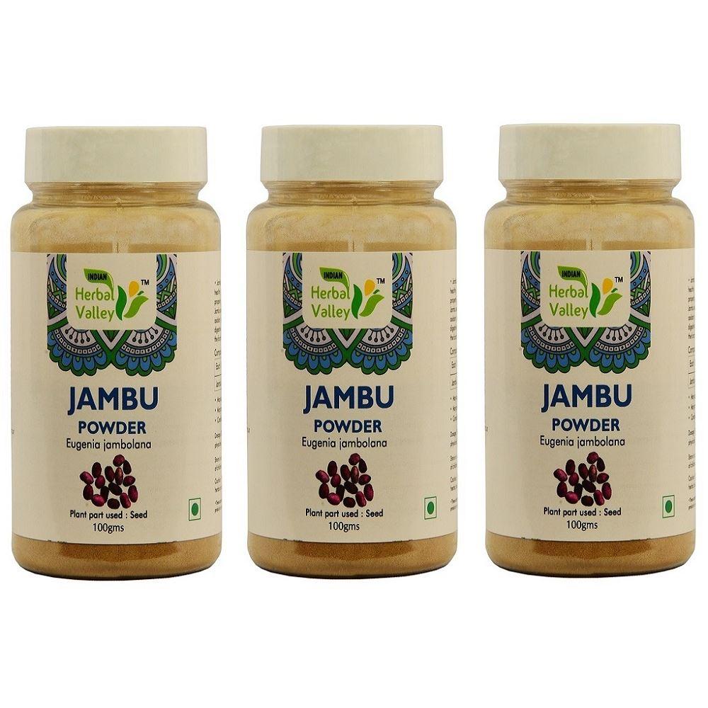 Indian Herbal Valley Jambu Seed Powder (100g, Pack of 3)