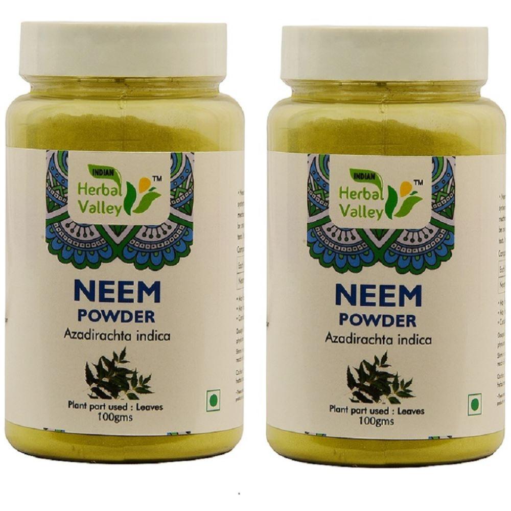 Indian Herbal Valley Neem Leaves Powder (100g, Pack of 2)