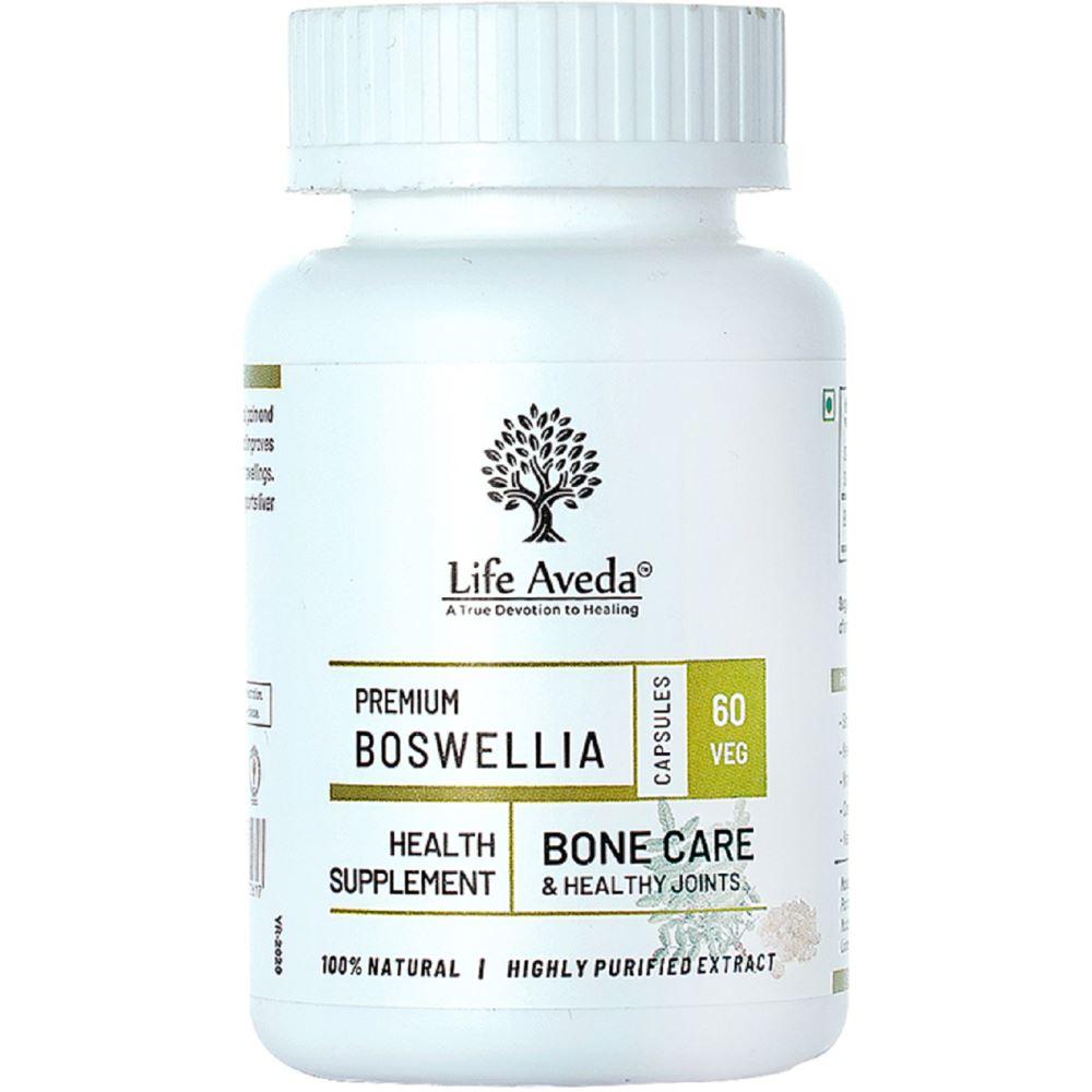 Life Aveda Premium Boswellia (500Mg) Veg Capsules (60caps)