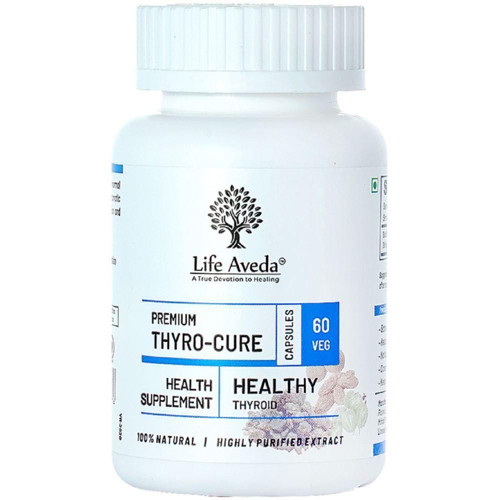 Life Aveda Premium Thyro Cure (500Mg) Veg Capsules (60caps)