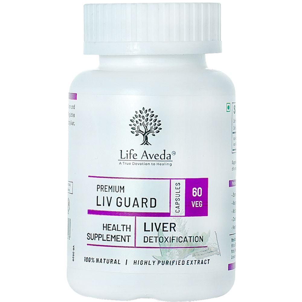 Life Aveda Premium Liv-Guard (500Mg) Veg Capsules (60caps)