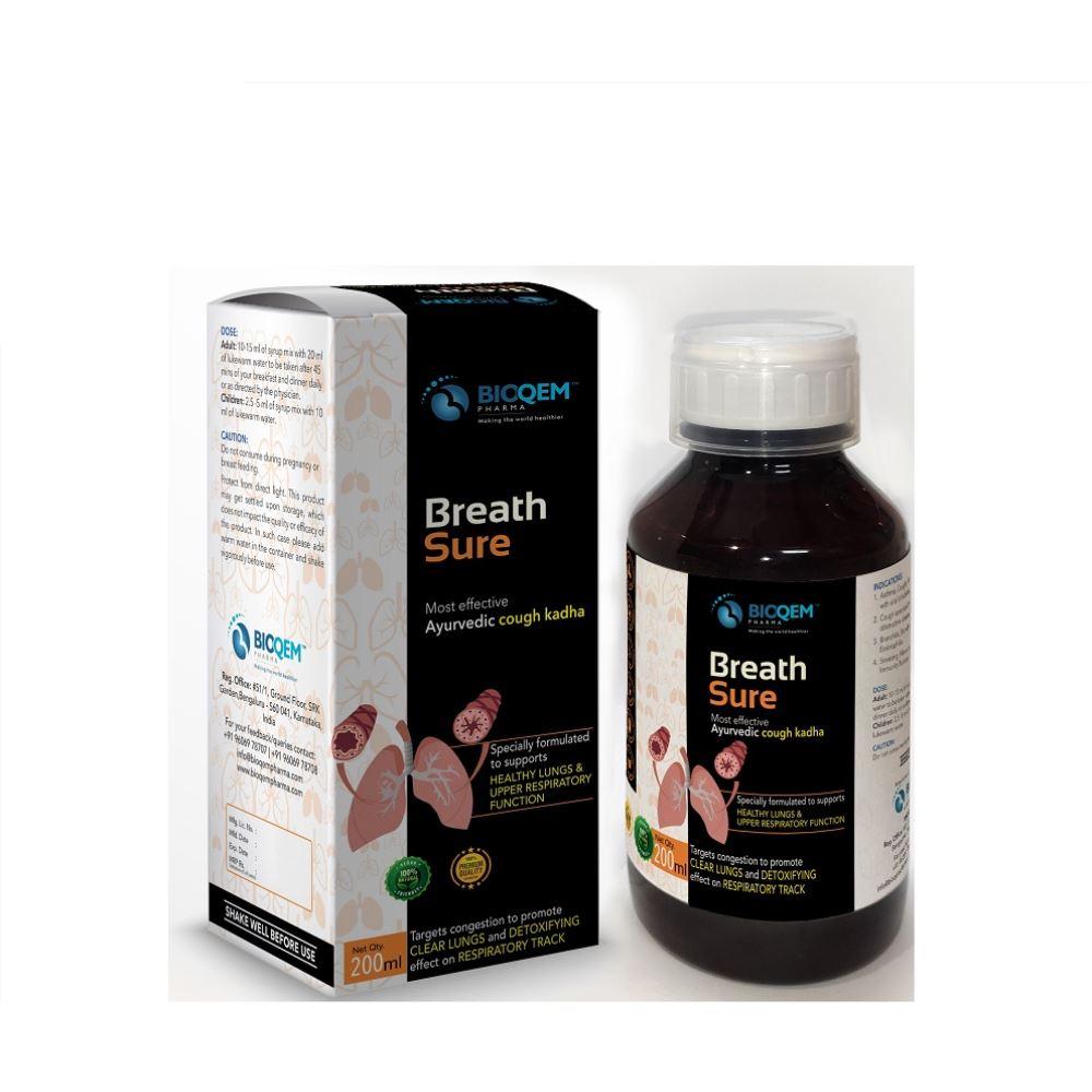 Bioqem Pharma Breath Sure Ayurvedic Cough Kadha (200ml)