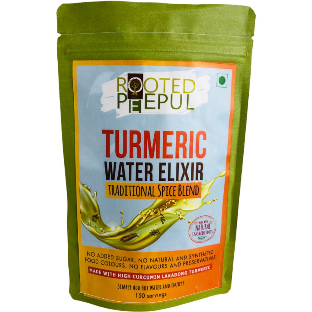 Rooted Peepul Turmeric Water Elixir Spice Blend Kadha (150g)
