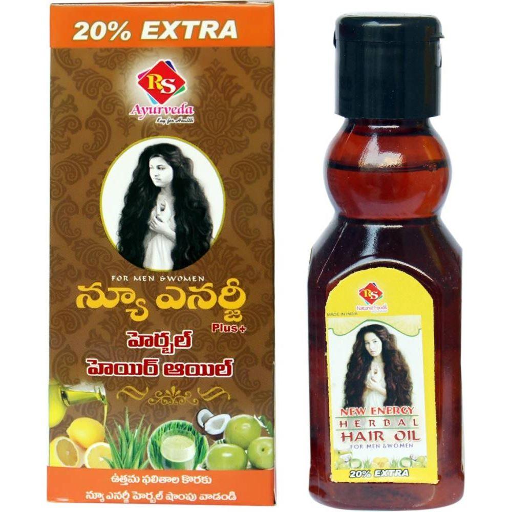 RS Natural Foods New Energy Herbal Hair Oil Plus (120ml)