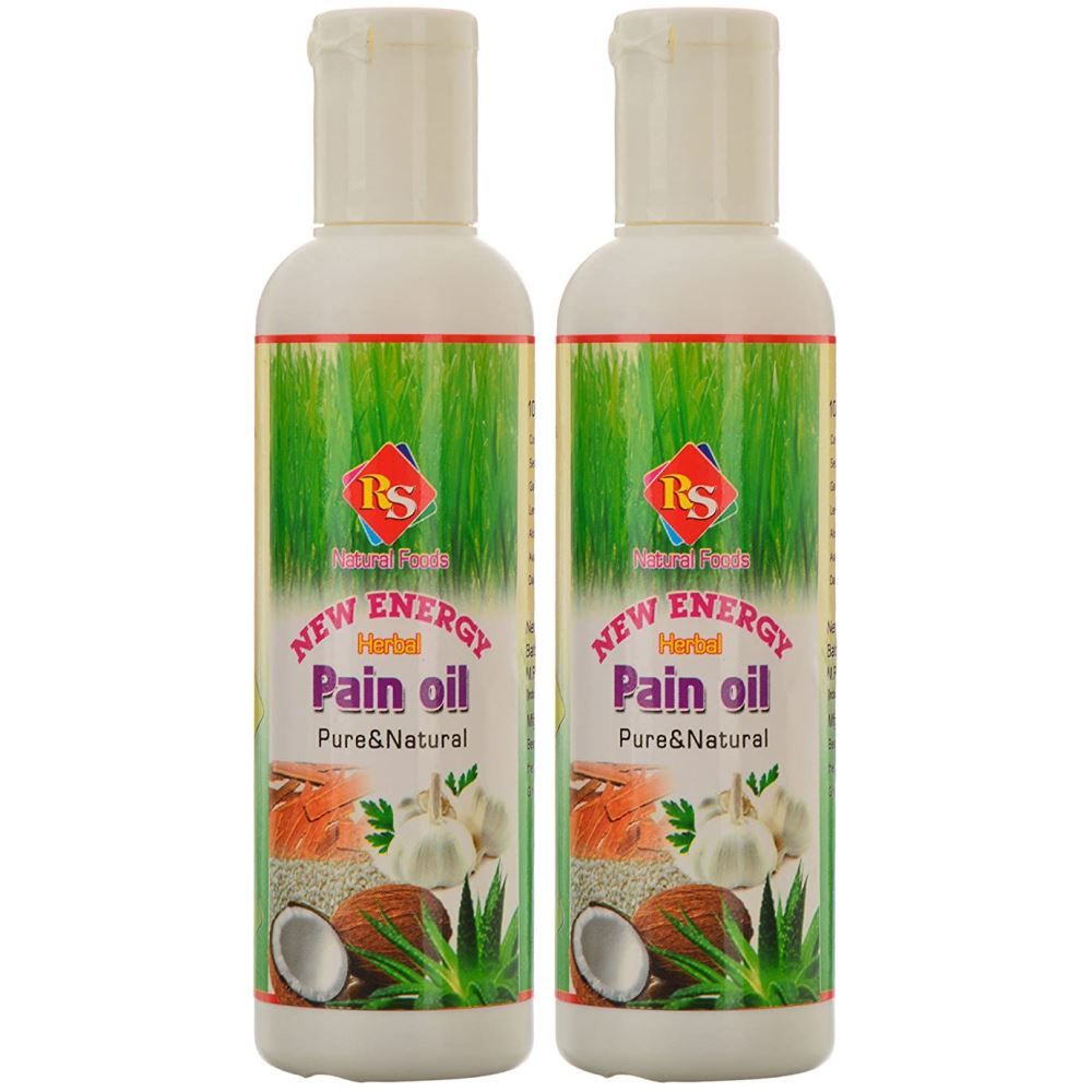 RS Natural Foods New Energy Herbal Pain Oil (100ml, Pack of 2)