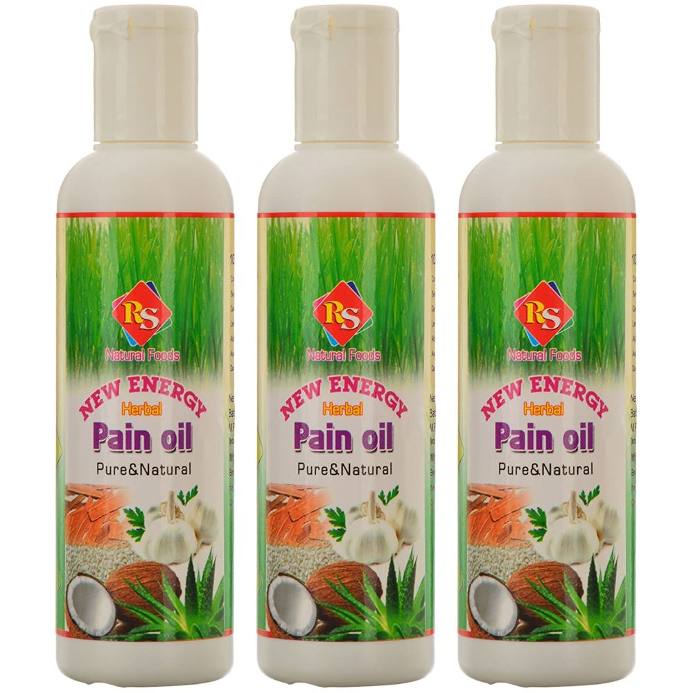 RS Natural Foods New Energy Herbal Pain Oil (100ml, Pack of 3)