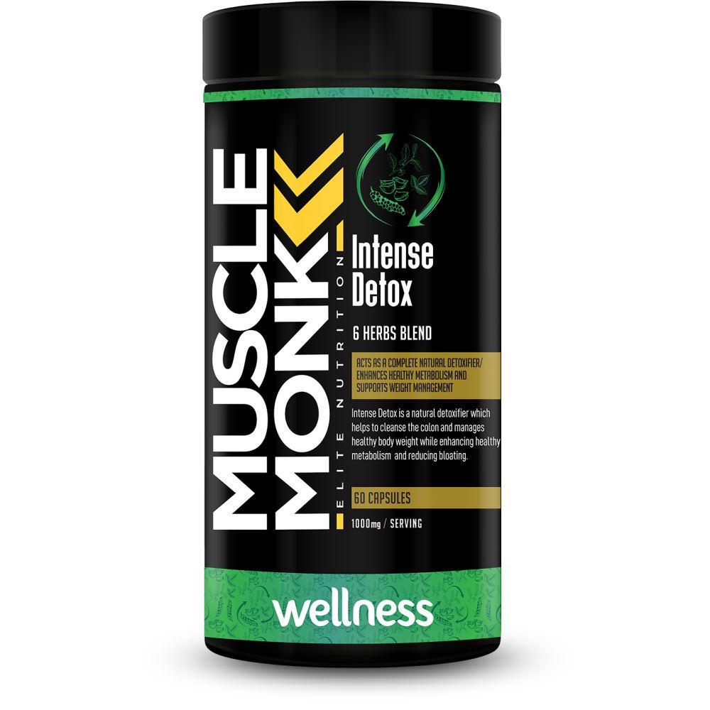 Muscle Monk Intense Detox 1000Mg Capsules (60caps)