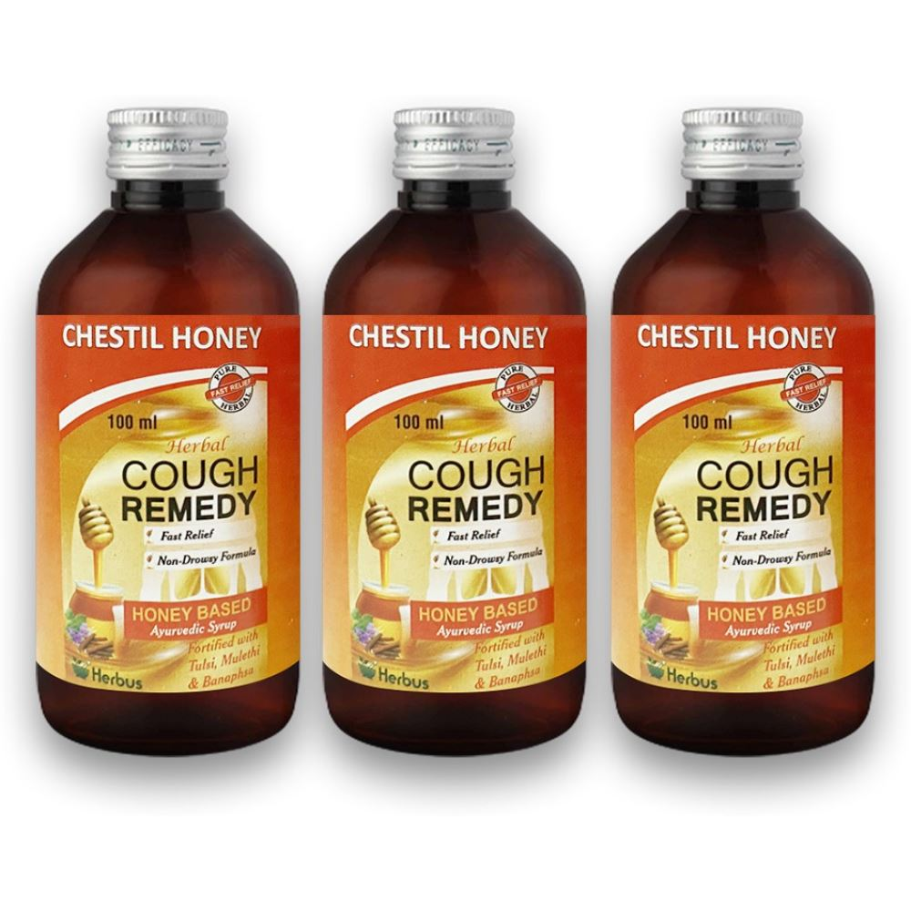 Herbus Chestil Honey Cough Remedy Syrup (100ml, Pack of 3)