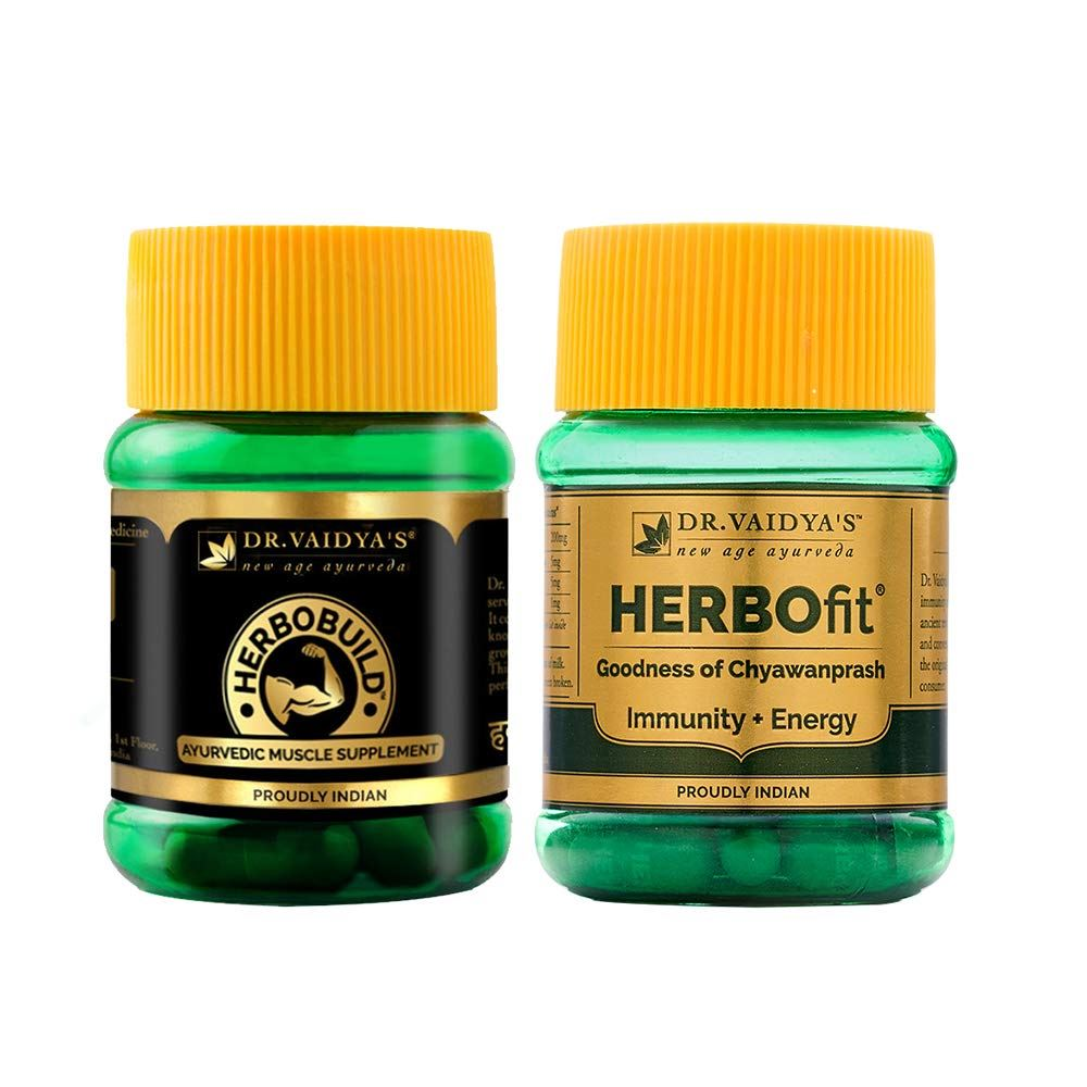 Dr. Vaidyas Ayurvedic Fitness (Herbofit X 1, Herbobuild X 1) Combo Pack (1Pack)