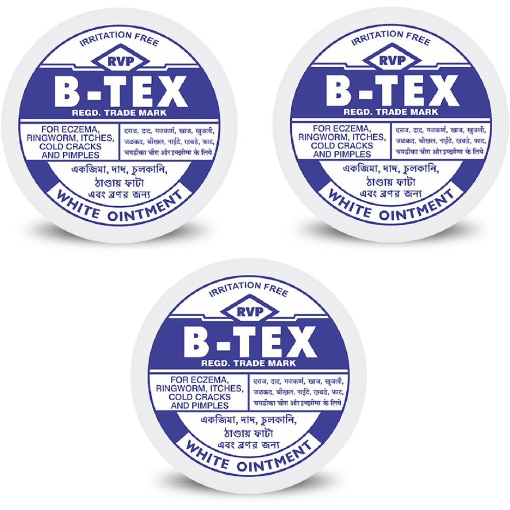 B Tex White Ointment (14g, Pack of 3)