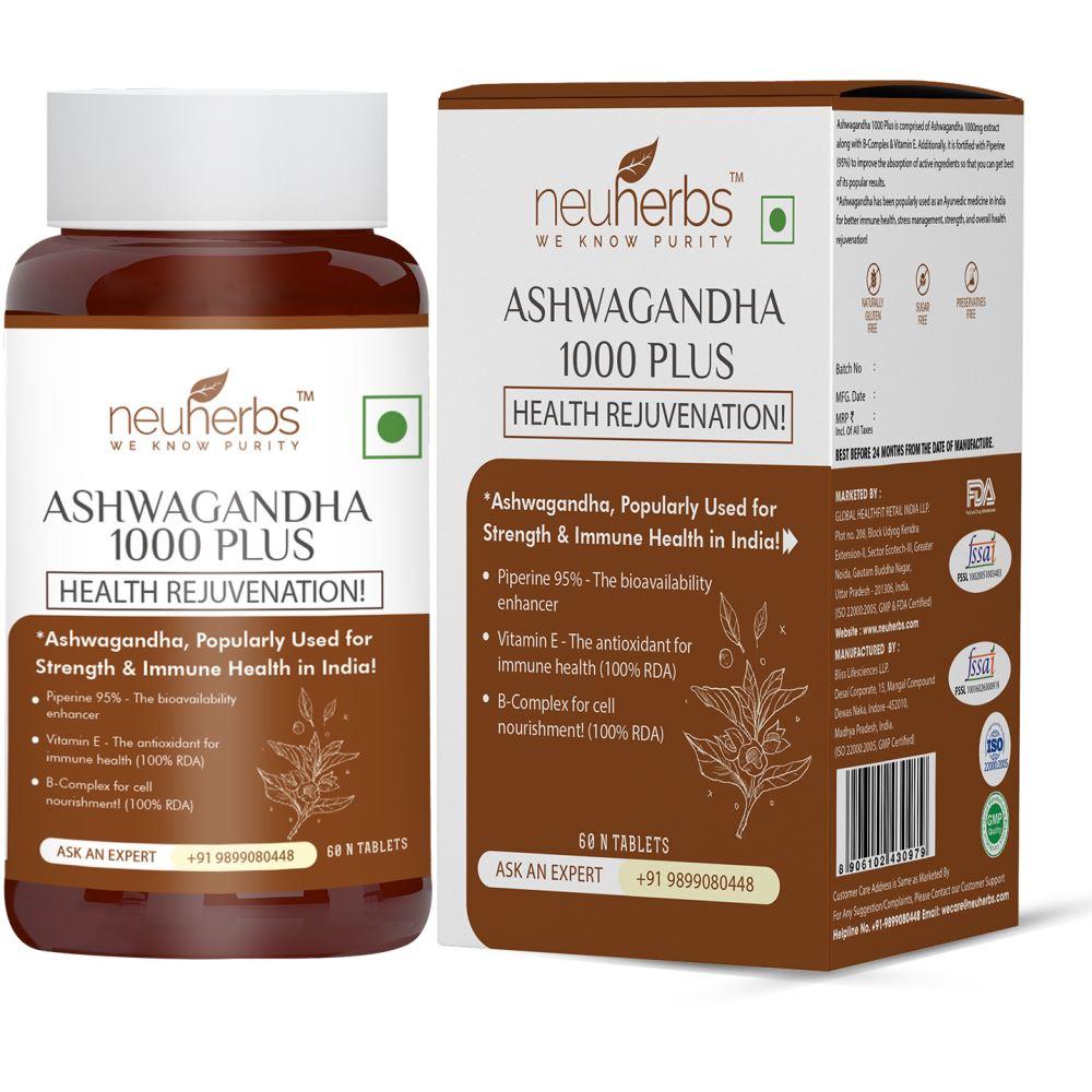Neuherbs Ashwagandha 1000 Plus Tablets (60tab)