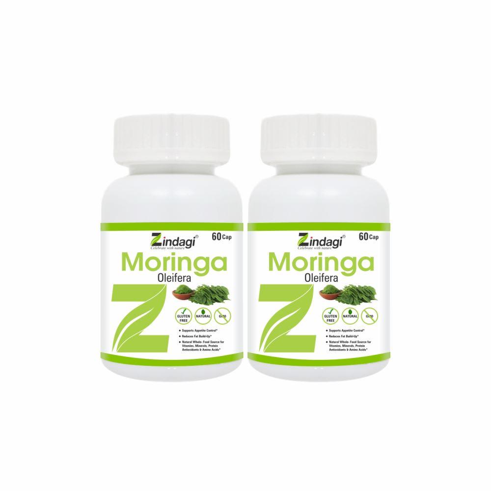 Zindagi Moringa Capsules (60caps, Pack of 2)