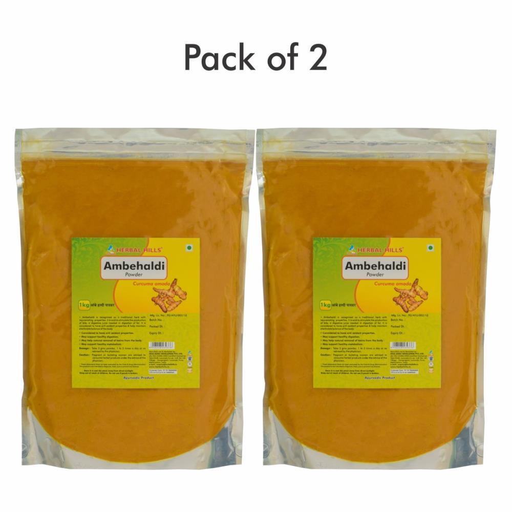 Herbal Hills Ambehaldi Powder (1kg, Pack of 2)