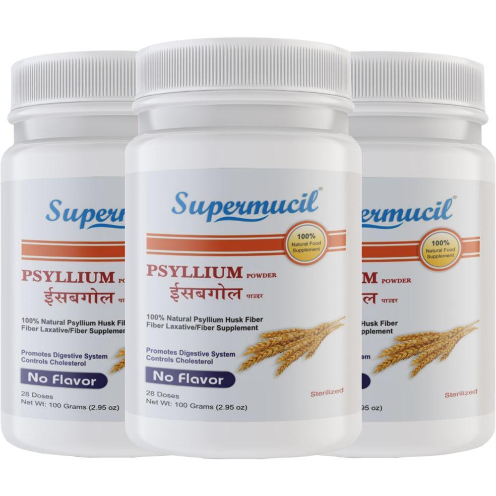 Supermucil Psyllium Husk Powder (100g, Pack of 3)