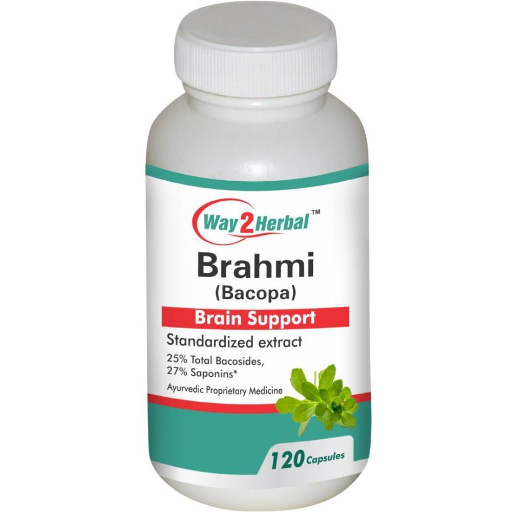 Way2Herbal Brahmi Capsules (120caps)