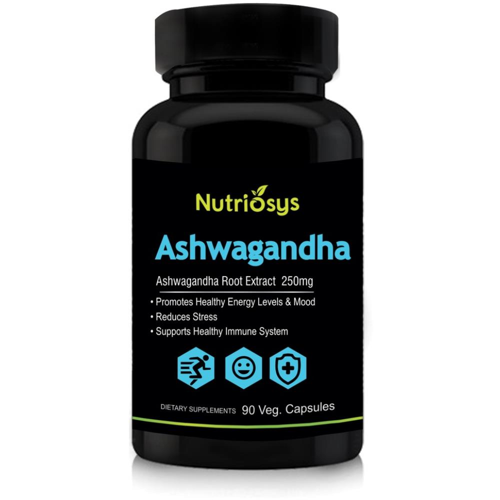 Nutriosys Ashwagandha 250Mg Veg Capsule (90caps)