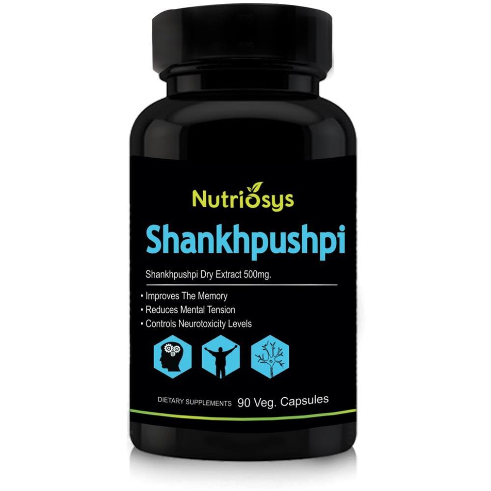 Nutriosys Shankhpushpi 500Mg Veg Capsule (90caps)