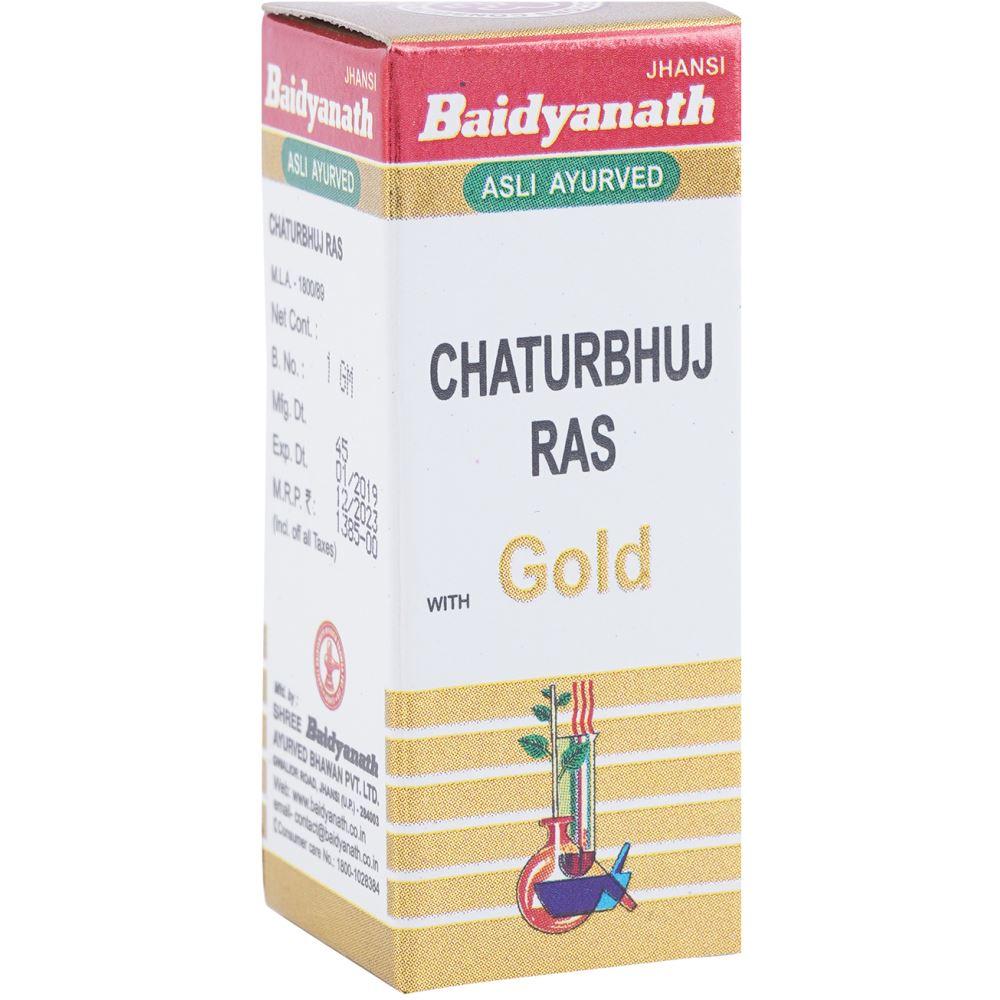 Baidyanath Chaturbhuj Ras (Swarna Amber Yukta) (1g)