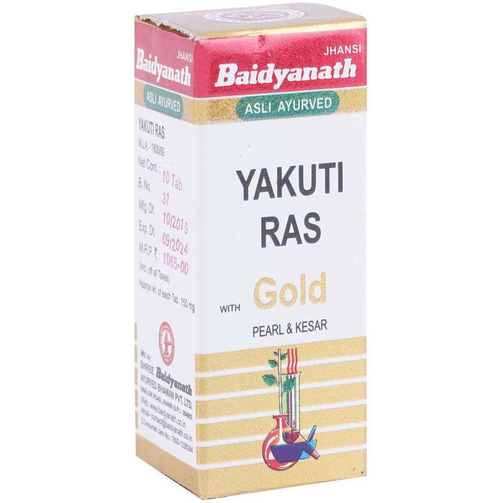 Baidyanath Yakuti Ras (Swarna Moti Kesar Amber Yukta) (10tab)