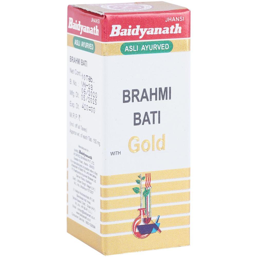 Baidyanath Brahmi Vati (Swarna Moti Kesar Yukta) (10tab)