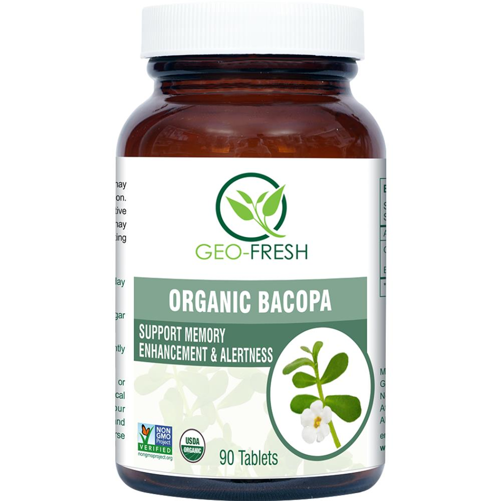 Geo-Fresh Organic Bacopa Tablet 750mg (90tab)
