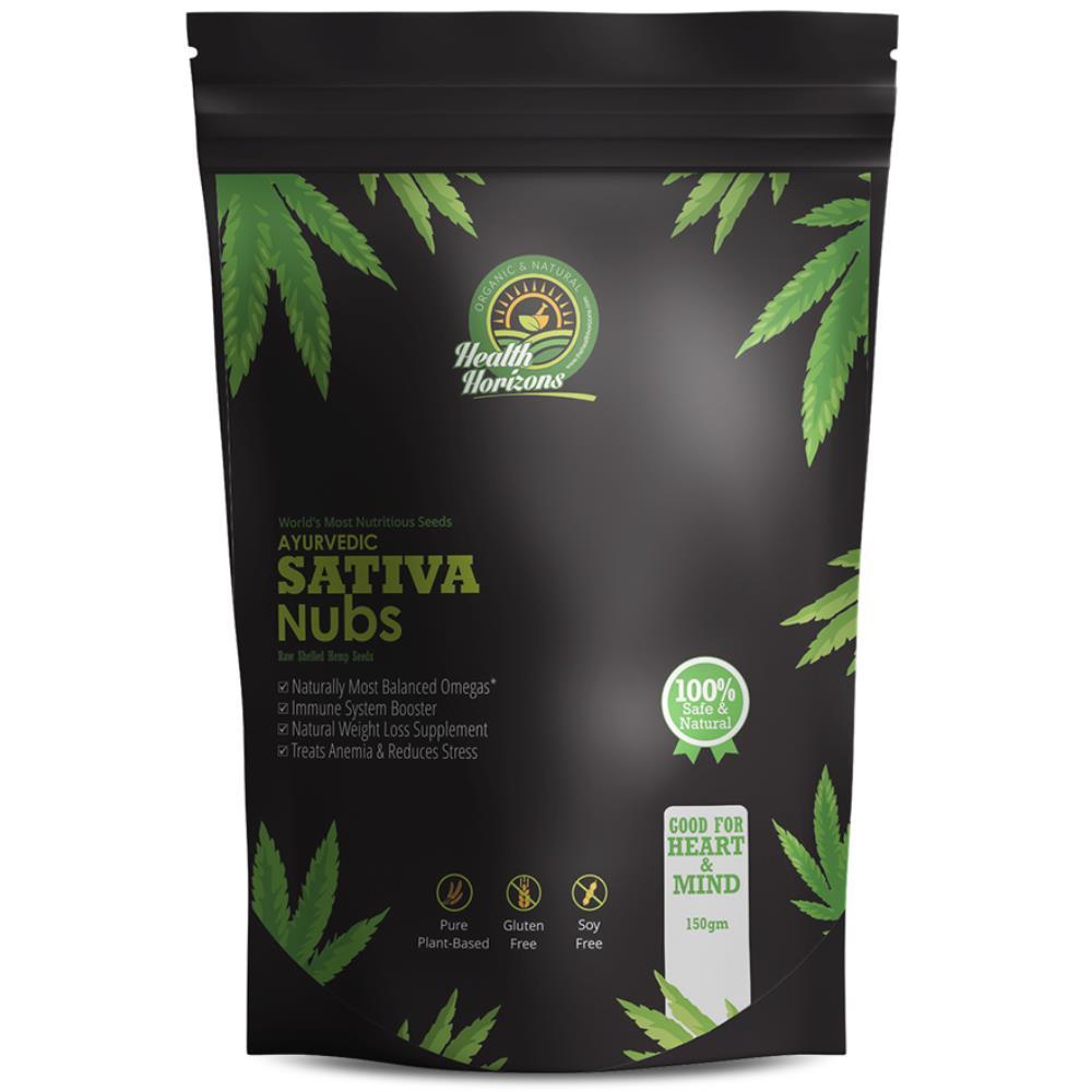 Health Horizons Ayurvedic Hemp Seeds Sativa Nubs (150g)
