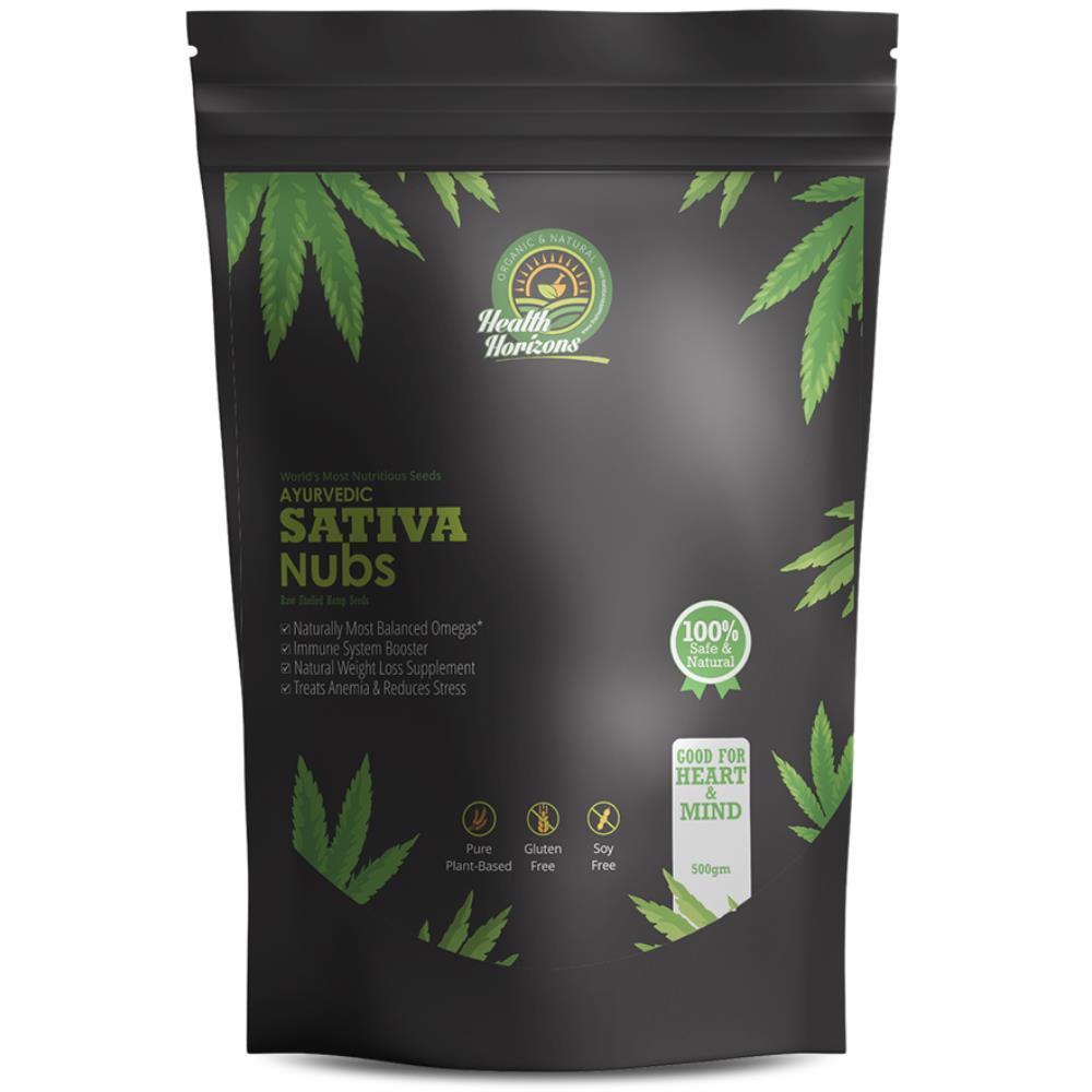 Health Horizons Ayurvedic Hemp Seeds Sativa Nubs (500g)