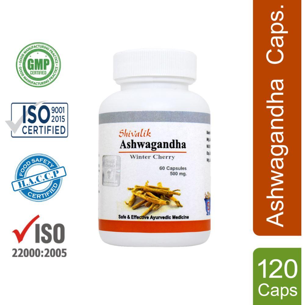 Shivalik Herbals Ashwagandha Capsule (60caps, Pack of 2)